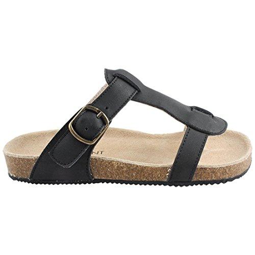 Enfant Mädchen Kinder Sandalen, 100% Leder, Dunkelgrau, Gr. 35, Sandal Open Toe Antracite, 815133-44