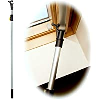 WinHux® Palo con una Varilla telescópica de Control para Abrir Las Ventanas de tejado VELUX y accionar la Cortina VELUX®. 1,2 a 2.0m Plateado