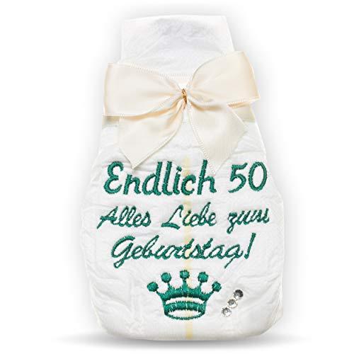 Geschenk zum 50. Geburtstag | Tanjo bestickte Windel | creme I lustige Geschenke zum 50. Geburtstag, 50. Geburtstag lustige Geschenke, 50 Geburtstag Männer, 50. Geburtstag Männer, 50 Geburtstag Frauen