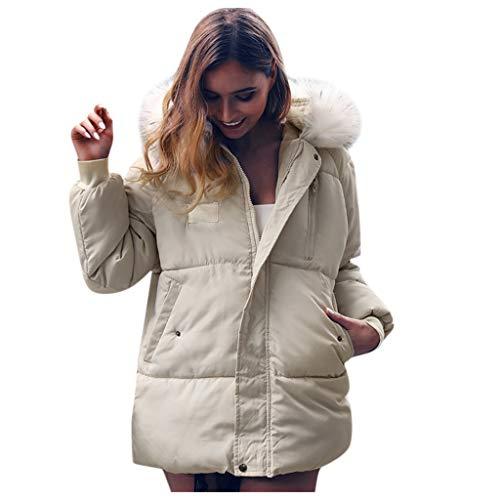 Mujer Invierno Abrigo Casual Sudadera con Capucha Chaqueta de Lana Capa Jacket Parka Pullover Hombre...
