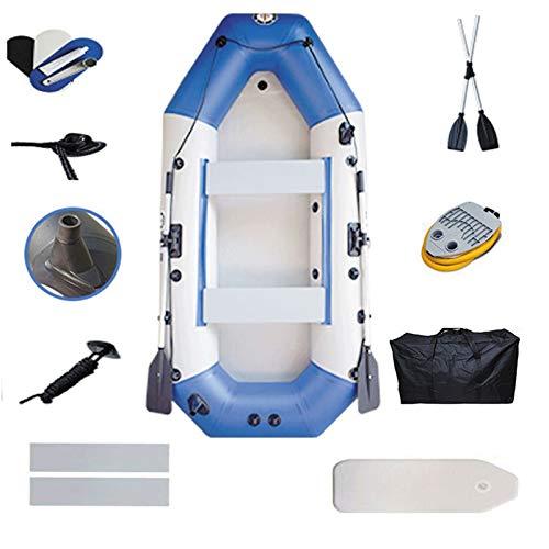 Lixiabeidai Tuta da Barca Gonfiabile, Kayak Gonfiabile, catamarano , PVC a Doppio Strato Pieghevole Spesso Resistente all'Usura Barca da Pesca Kayak Pesca per Adulti,Blue-(4 People)