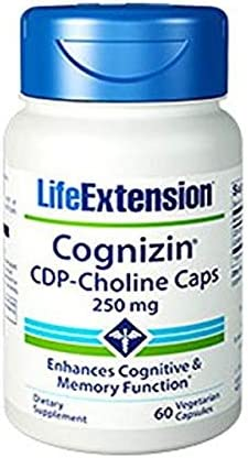 Life Extension Cognizin CDP-Choline V Caps (01659) 60 Count (Pack of 1)