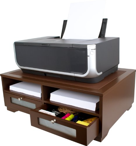 Victor Printer Stand, A1130 (Autumn Brown, Color is Lighter and redder Than Mocha Brown)