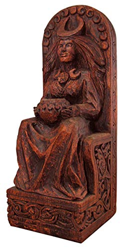 Dryad Design Seated Goddess Statue Wood Finish