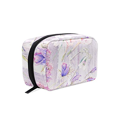 Travel Makeup Cosmetic Pouch Flowers Makeup Travel Bag Purse Holiday Gift For Women Or Girls(236)
