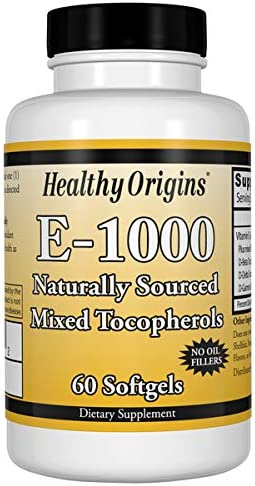 Healthy Origins Vitamin overseas E - 1000 IU Gels Mixed Natural 60 Toco Challenge the lowest price
