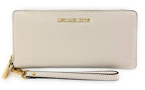 Michael Kors Jet Set Travel Continental Zip Around Leather Wallet...
