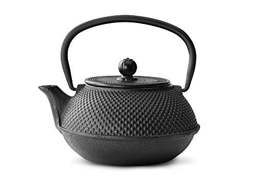 asiatische Teekanne Gusseisen Jang 0,8 ltr. schwarz Noppenstruktur