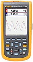 Fluke 125B Industrial ScopeMeter Oscilloscope with Bus Health, Power Measurement, and Harmonics Mode, SCC120 Kit