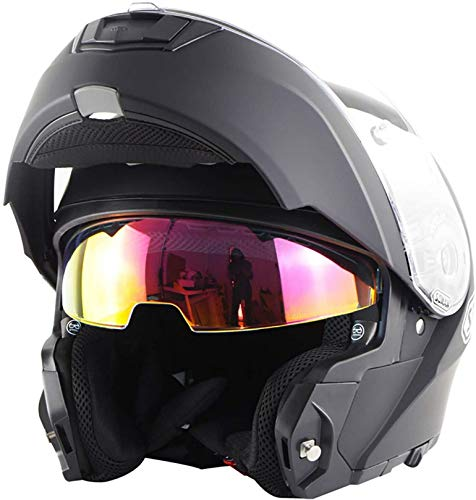 casco moto 4xl QDY Casco Moto Integrale modulare apribile Integrato Certificato DOT con Visiera Parasole Caschi Moto Caschi modulari Caschi apribili Caschi Offroad per Adulti Uomini e Donne H