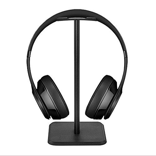 iitrust Kopfhörerständer, Universal Kopfhörerhalter für Over Ear Kopfhörer, aus Aluminium + TPU + ABS, Schwarz