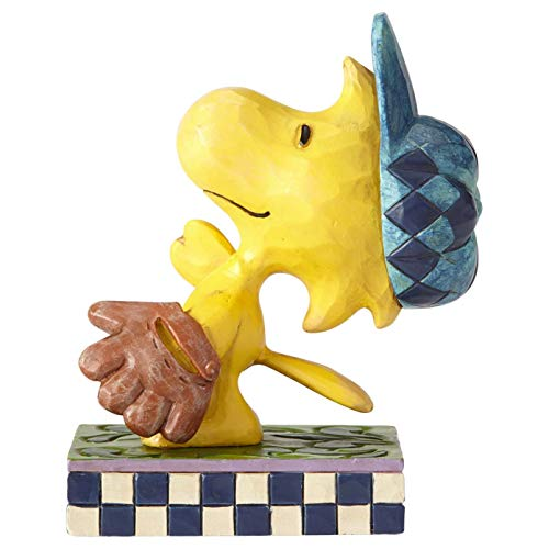 Enesco Peanuts by Jim Shore Woodstock in The Outfield Figur, Steinharz, Mehrfarbig, 3 Inch