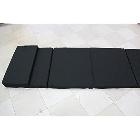 トラックふとん|フラットタイプ高反発敷き布団|黒|大型、中型兼用|巾60㎝x丈230㎝x厚さ5㎝(上部30㎝が折り曲げが出来て丈を200㎝に変えられます。)|しっかり支えて、寝返りが打ちやすく より深い眠りへ|疲労回復を、目指した高機能マット。