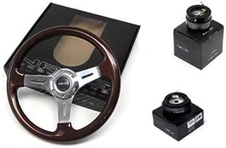 92-95 Honda Civic DX EX VX LX Si EG NRG 330MM Steering Wheel + Hub + Quick Release