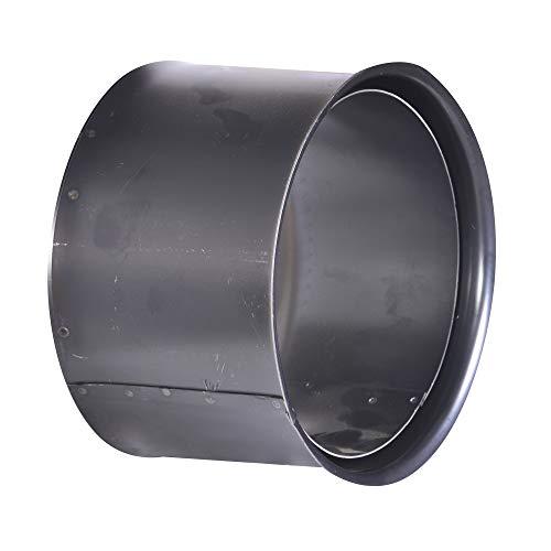 FIREFIX R200/WD Wandfutter, doppelt, passend für 2 mm starke Ofenrohre/Rauchrohre in 200 mm Durchmesser, für Kaminöfen und Feuerstellen