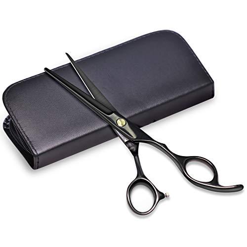 Professionelle Friseurschere Haarschneideschere mit verstellbarer Schraube Scharf - 6,7-Zoll-Salonschere Friseurschere mit Lederscherenetui