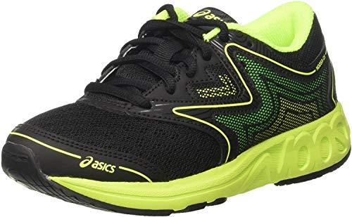 ASICS Noosa GS C711n-9007, Scarpe da Ginnastica Unisex-Adulto, Nero (Black/Safety Yellow/Green Gecko), 36 EU