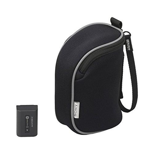 Sony ACC-BBV5 Starter-Set Neopren-Kameratasche (schwarz) und LITHIUM-Ersatz-Akku NP-FV50