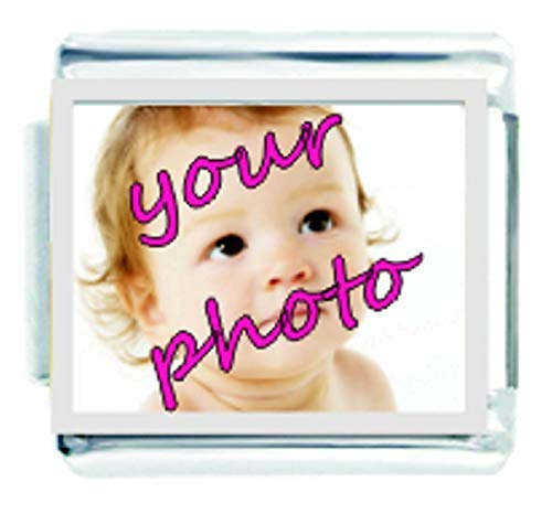 Daisy Charm - Add Your Own Photo Italian Charm Fits all 9mm Italian Style Charm Bracelets