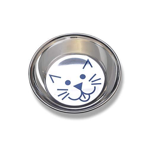 Van Ness Stainless Steel Saucer Style Cat Dish, 8 Ounce Louisiana