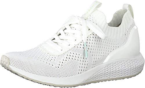 Tamaris Damen Schnürhalbschuhe 23714-24, Frauen sportlicher Schnürer, lose Einlage, Sneaker schnürer freizeitschuh,White,39 EU / 5.5 UK