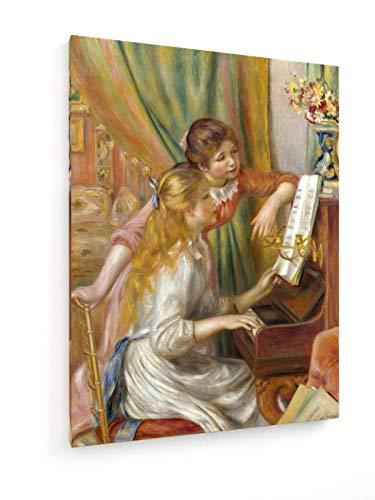 weewado Auguste Renoir - Zwei Mädchen am Klavier 75x100 cm Leinwandbild auf Keilrahmen - Wandbild, Poster, Kunst, Gemälde, Foto, Bild auf Leinwand - Alte Meister/Museum