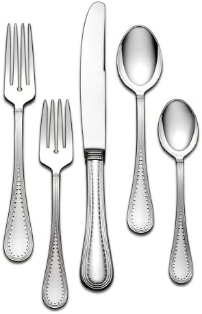 Vera Wang Wedgwood Stainless Grosgrain Five Piece Place Setting Home Kitchen