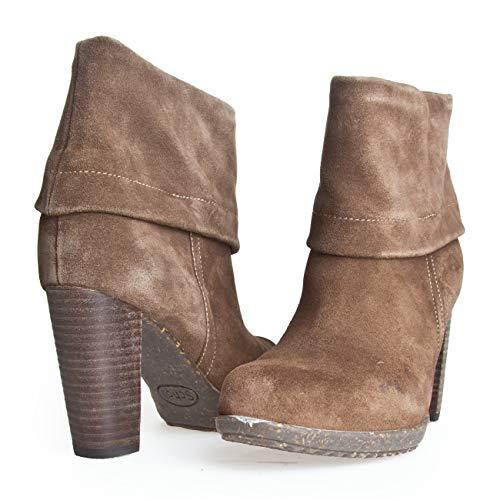 Scholl ARDIM F240291062 Damenschuhe Stiefeletten Ankle Boots Stiefel Taupe Wildleder Suede BIOPRINT (EU 36 / UK 3.5)