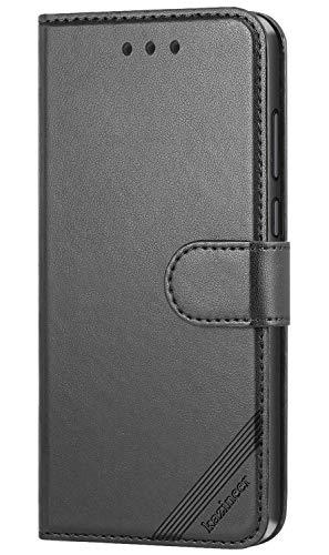 kazineer Hülle für BQ Aquaris X/X Pro, Leder Tasche Handyhülle für BQ Aquaris X/X Pro Schutzhülle Brieftasche Etui Hülle (Schwarz)
