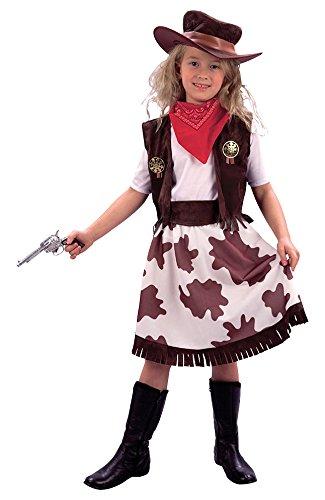 Bristol Novelty CC633 Costume de Cowgirl pour Enfant, Taille, Blanc, Moyen
