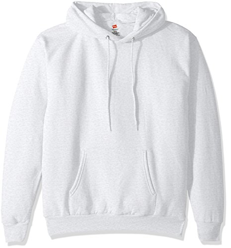 Hanes Men's Pullover EcoSmart Fleece Hooded Sweatshirt, ash, Large