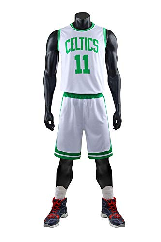 Men's NBA Irving 11# Celtics Retro Basketball Shorts Summer Jersey Basketball Uniform Top&Short
