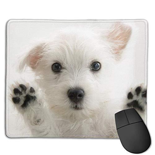 Mauspad Mit Gelkissen Handabdruck des Hundes Mousepad Mouse Mat Mit Handauflage 21 X 26cm