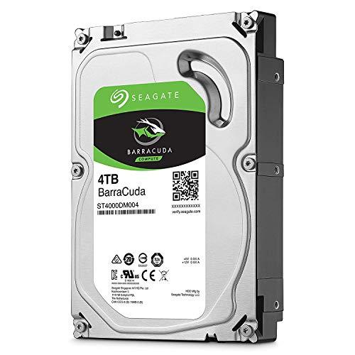 Seagate Barracuda ST4000DM004 Interne Festplatte für Desktop PC, NAS (8,9 cm (3,5 Zoll), 256 MB Cache, 5400RPM, SATA-III 6Gb/s) , Kapazität:4.000GB (4TB)(Generalüberholt)