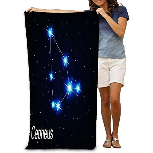 Hancal Badetücher Das Sternbild Cepheus Star im Nachthimmel Strandtücher