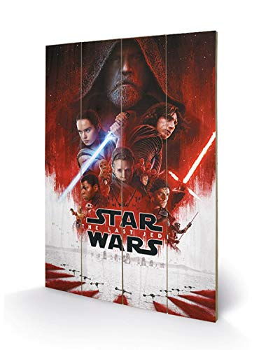 1art1 Star Wars - Episode VIII, The Last Jedi One Sheet Cuadro De Madera (60 x 40cm)