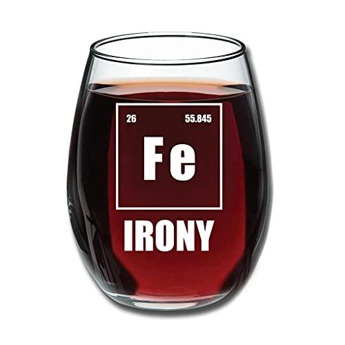 RNGIAN Fe Ironie Novedad 350 ml Copa de vino sin repujado, idea de regalo única para cumpleaños para amantes del vino, blanco, 350 ml