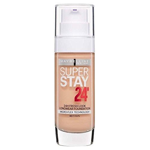 2 x Maybelline Superstay 24H Fresh Look Longwear Foundation 30ml - 040 Fawn
