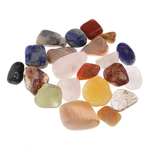 chiwanji 21Pcs / Pack Palm Tumblestone Crystals Gemstones Minaiture For Home Decor Gift