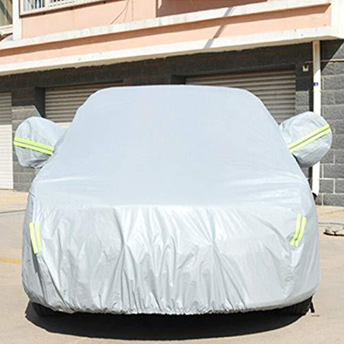 Autohoezen Regenjas PVC Anti-Dust Zonwerende Sedan Auto Cover, met waarschuwingsstroken, Geschikt voor auto's tot 4,9 m (191 inch) in lengte
