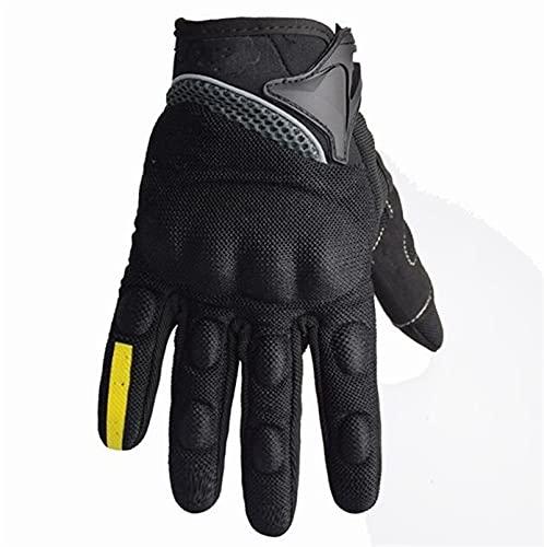 Guantes de motocicleta transpirable Equipo de moto de dedo completo Mujeres Hombres Rider Sports Protect Glove (Color : Blue, Size : Large)