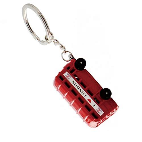 Red Bus 3D Teléfono Llavero de Metal Llavero del Recuerdo...