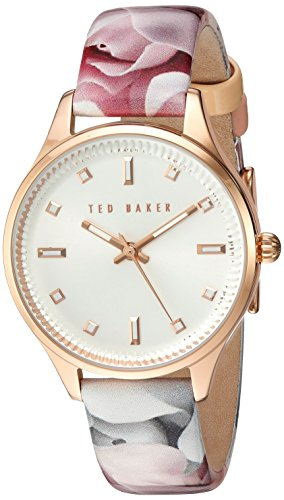 Ted Baker Women's 'Sport' Quartz Stainless Steel and Leather Dress Watch, Color:Silver-Toned (Model: 10030741)