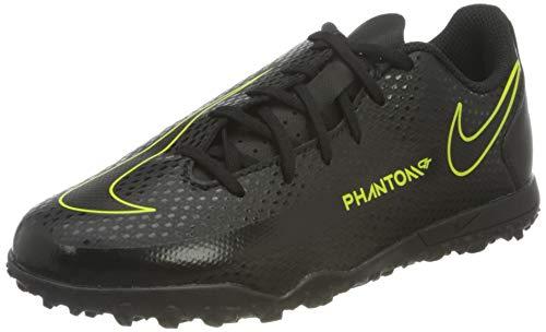 Nike Jr. Phantom GT Club TF Football Shoe, Black/Black-Cyber-Light Photo Blue, 36 EU