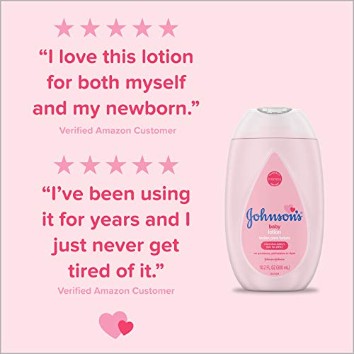 Johnson's Moisturizing Pink Baby Lotion with Coconut Oil, Hypoallergenic, 16.9 fl. oz (Pack of 3)