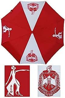 Delta Sigma Theta Auto Open Folding Umbrella