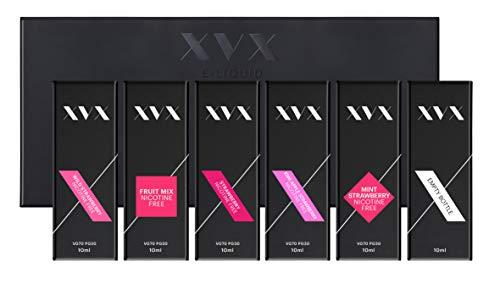 XVX E Liquid - Strawberry Mix - 5 Pack - Fruit Mix - Kiwi Apple Strawberry - Mint Strawberry - Strawberry - Wild Strawberry - E Cigarettes 10ml Bottle Electronic Cigarette Shisha Vapouriser - Ecig