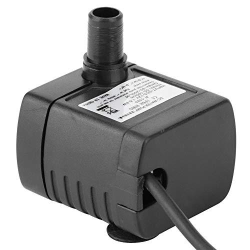 Ymiko Bomba de Fuente USB DC Mini Bomba de Agua Sumergible para pecera, Acuario, Estanque, hidropónico, silencioso sin escobillas, 150L/H
