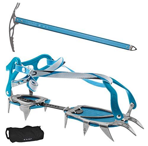 CAMP Steigeisen Stalker Universal Blue + Steigeisentasche + Eispickel Mondo von LACD 70cm