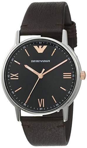 Emporio Armani Reloj Analógico para Hombre de Cuarzo con Correa en Cuero AR11153